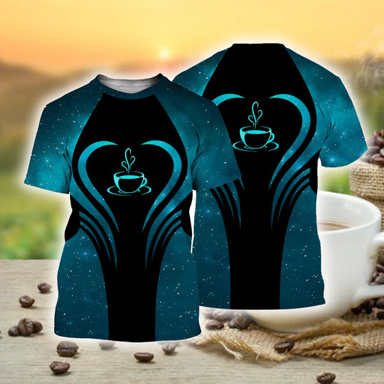 Coffee Beauty Blue 3D Shirt