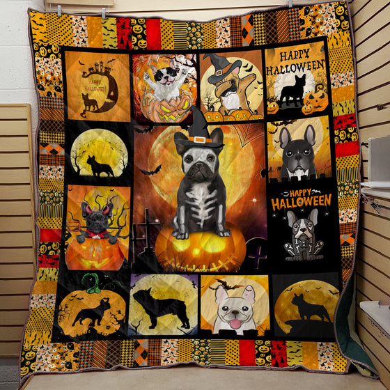 French Bulldog Halloween Quilt