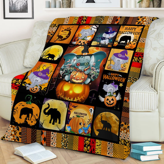 Elephant Halloween Blanket