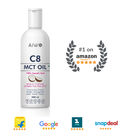 100% Pure C8 MCT Keto Oil | 500ml