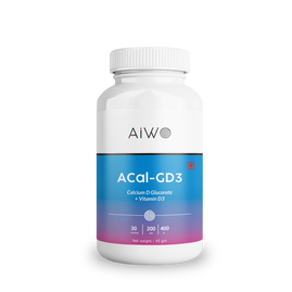 AIWO ACal-GD3 Calcium D-Glucarate 200mg with Vitamin D3 400IU