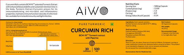 Turmeric Curcumin BCM-95 With Piperine