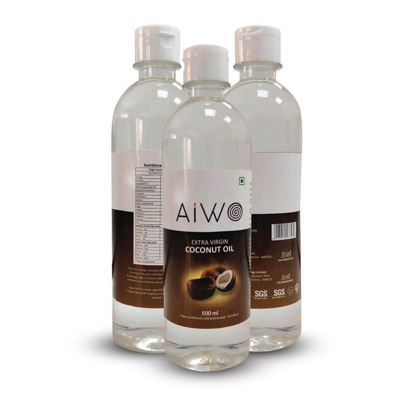 AIWO Extra virgin cold pressed raw unrefined coconut oil
