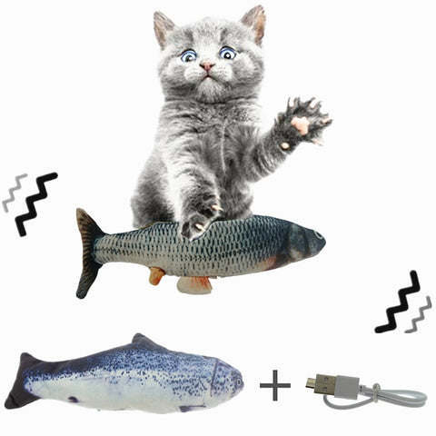 Electric Wagging Cat Toy-Petsparadize