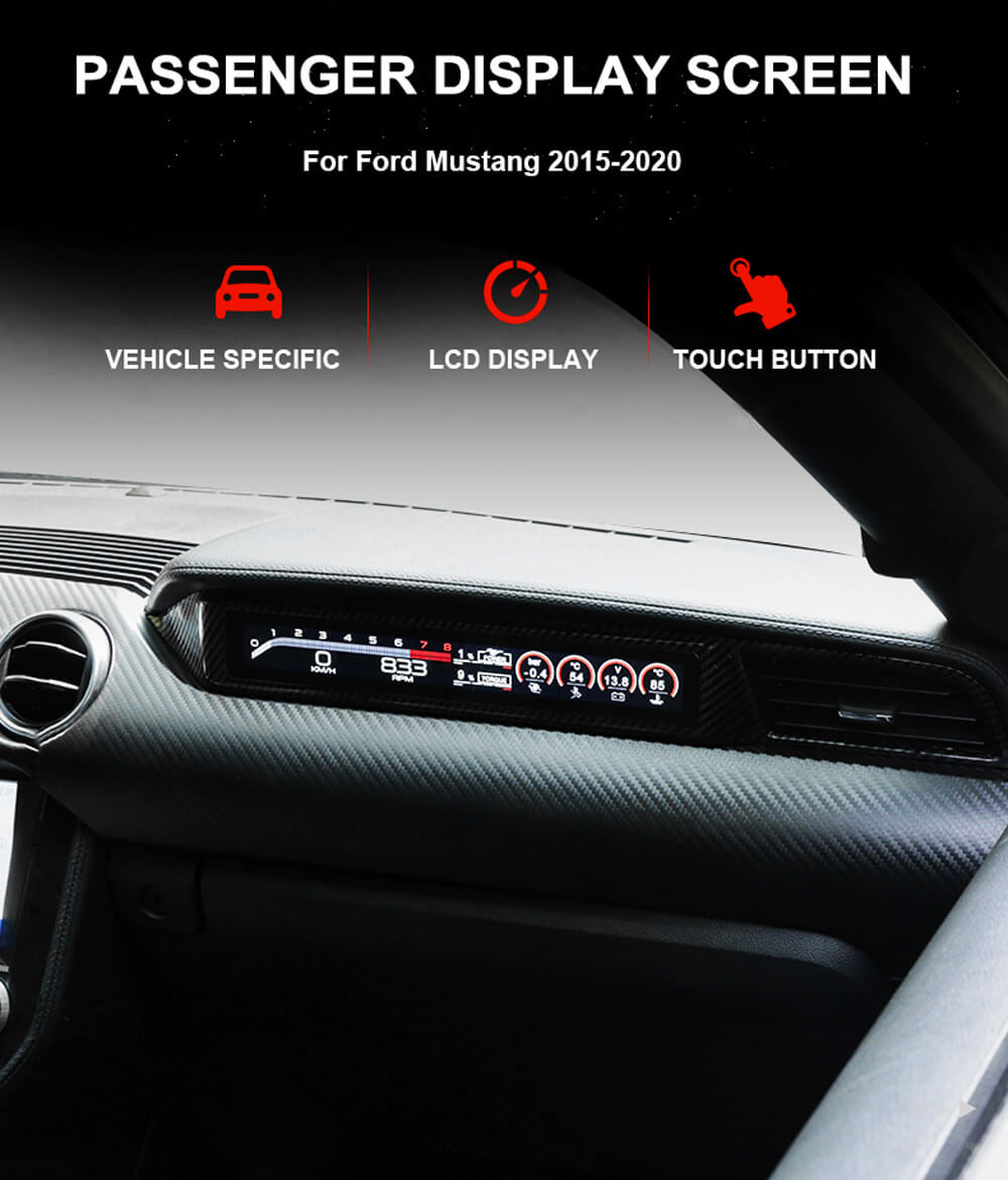 Passenger LCD Display For 2015-2020