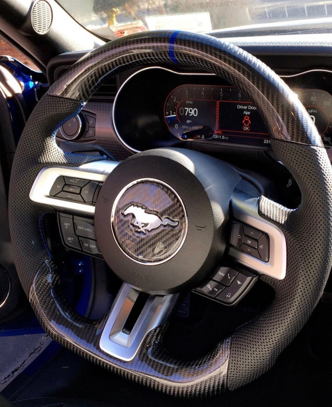 CarbonBargain Carbon Fiber Steering Wheel No LED (2015-2020)