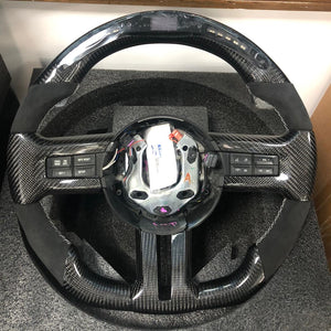 2010-2014 Mustang Carbon Fiber Steering Wheel LED and Non-LED
