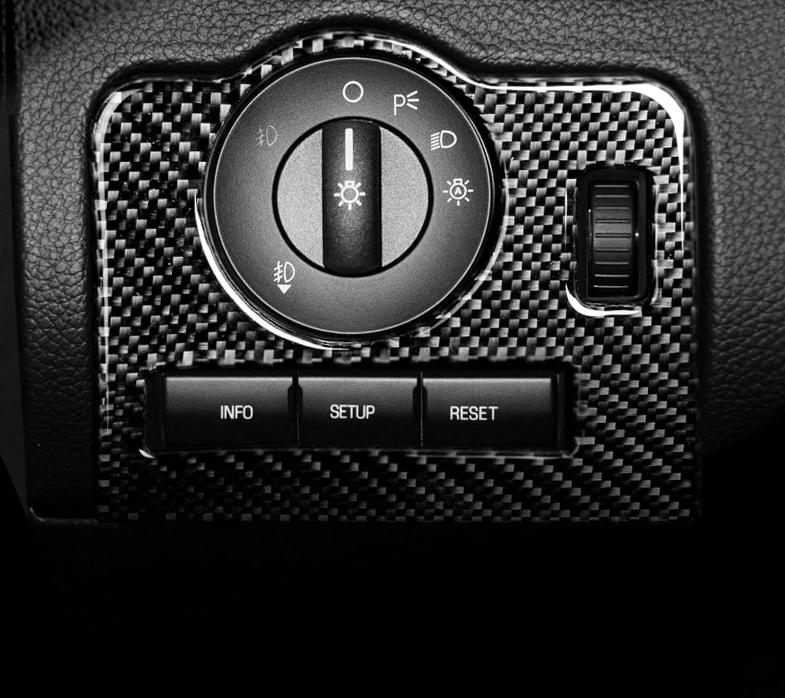 Carbon Fiber Headlight Switch Overlay