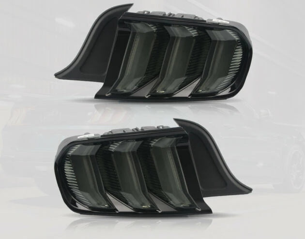Smoked Euro Spec Tail Lights for 2015-2019 Mustangs
