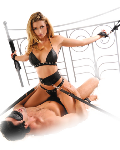 Fetish Fantasy Series Bed Bondage Belt Restraint System