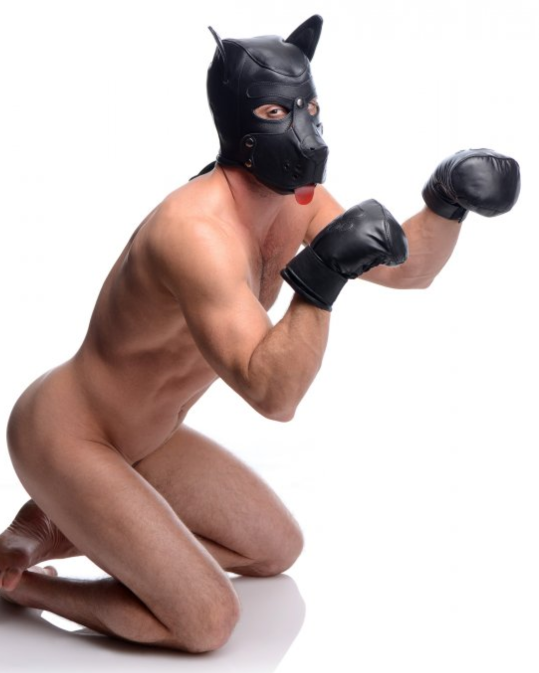 Strict Leather Puppy Hood with Bendable Ears