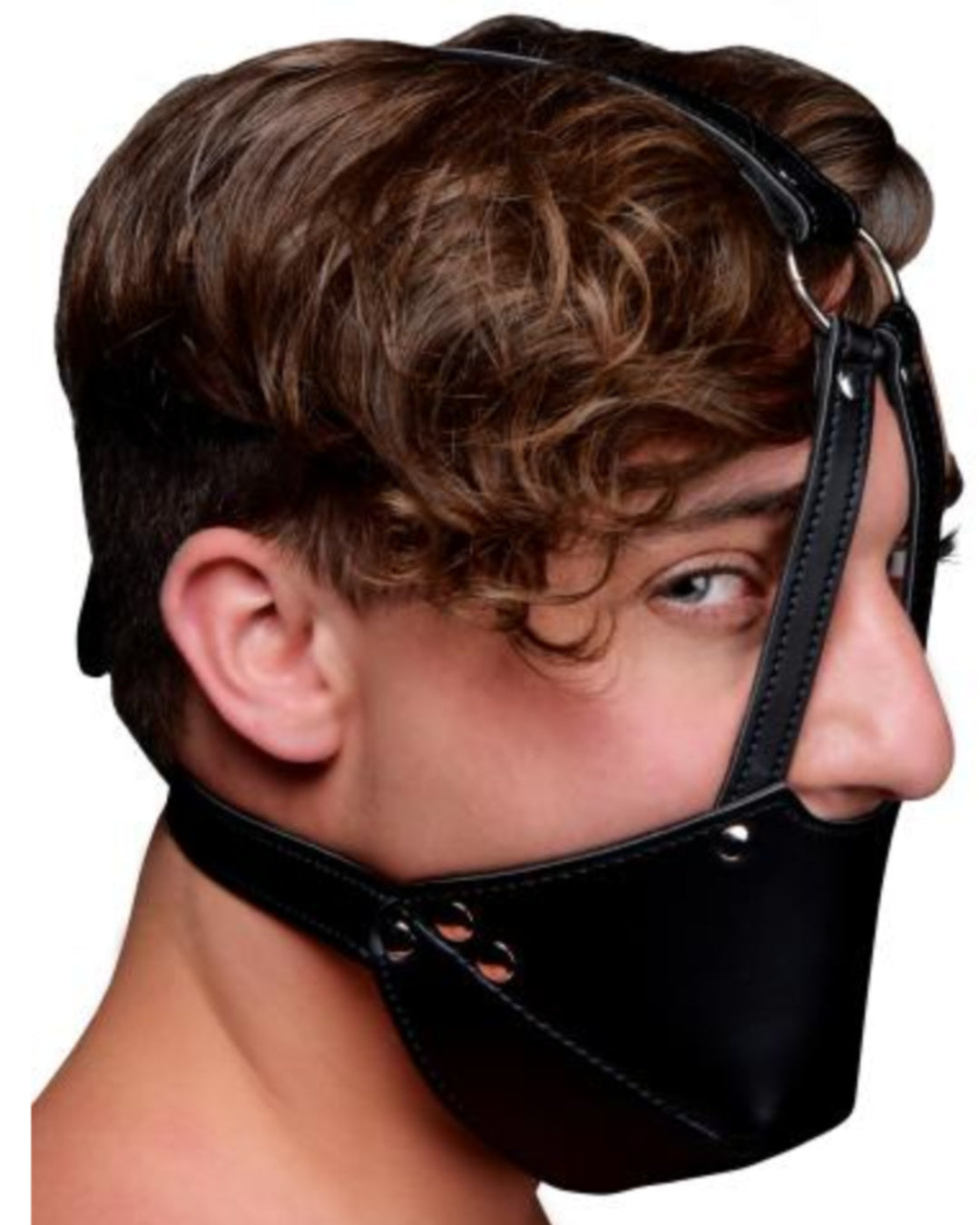 Strict Mouth Harness with Ball Gag Black