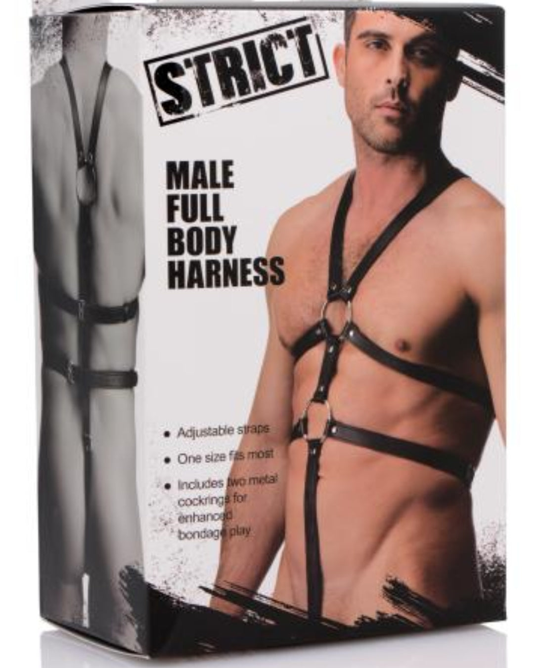 Male Full Body Leather Harness - Black  Box