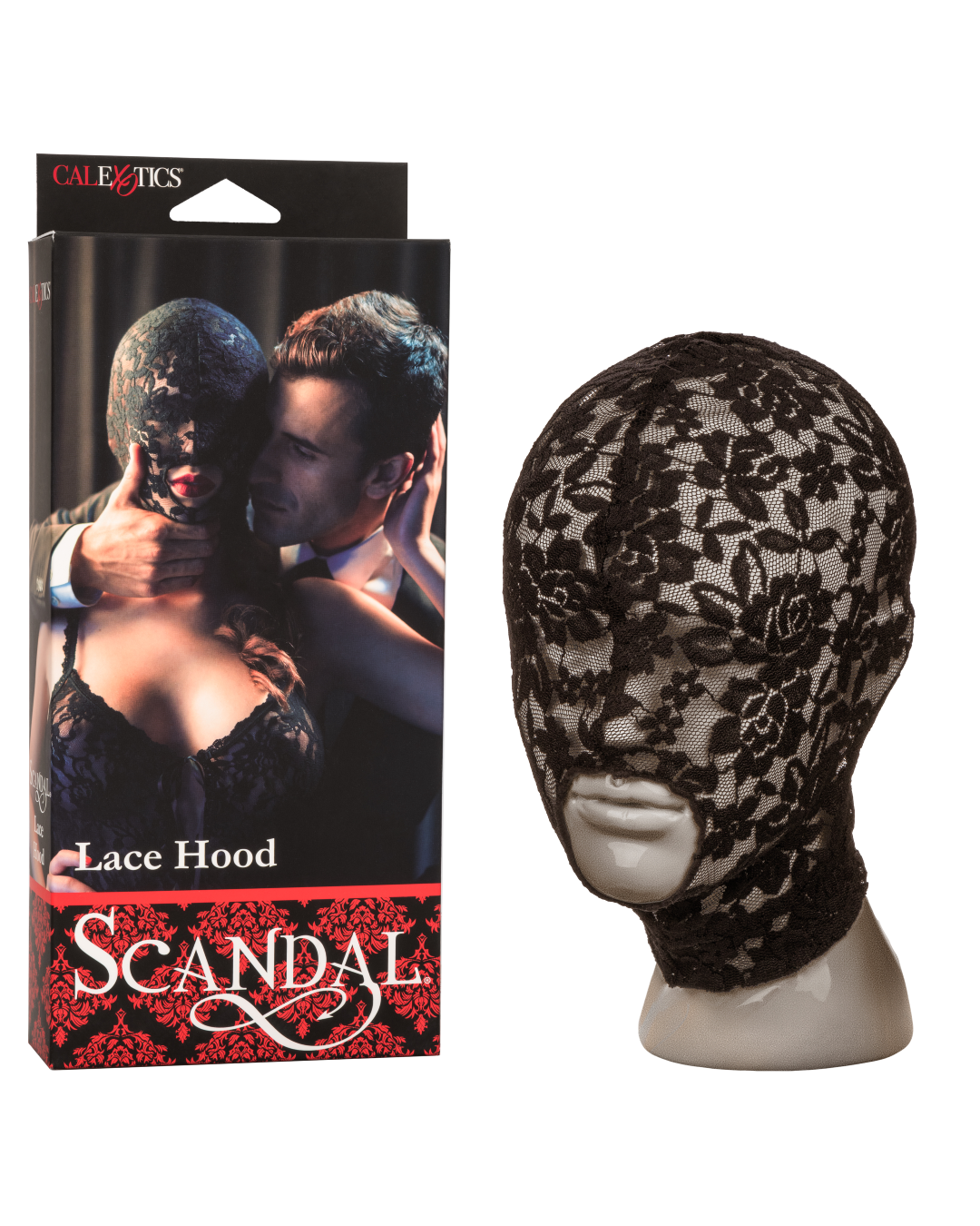 Scandal Lace Sensory Deprivation Hood - Black with box