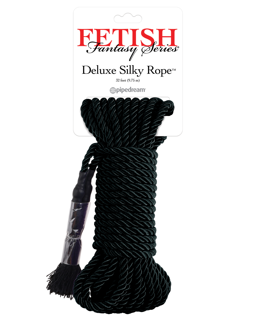 Fetish Fantasy Japanese Silk Rope 35 Feet - Black