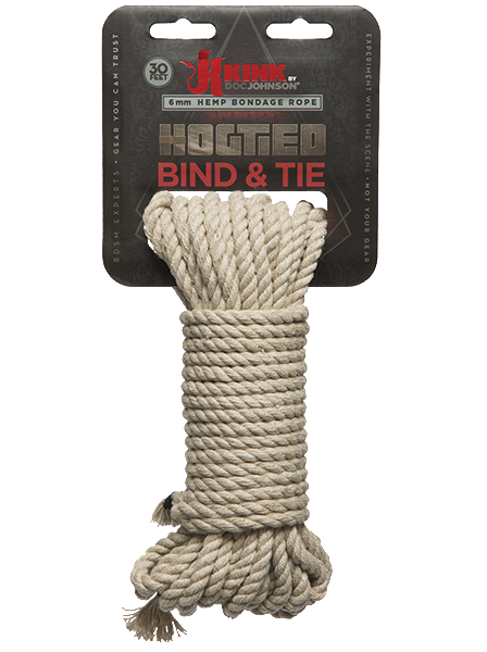 Bind and Tie Hemp Bondage Rope - Kink by Doc Johnson in package