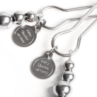 Close up of Fifty Shades of Grey The Pinch Adjustable Nipple Clamps