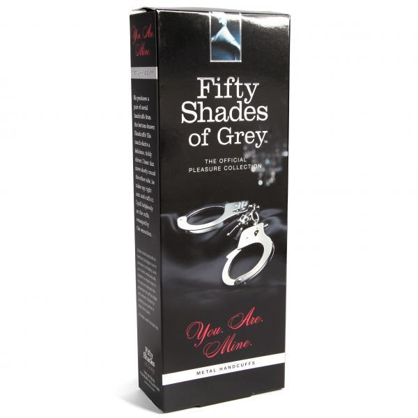 Fifty Shades of Grey You Are Mine Metal Handcuffs box