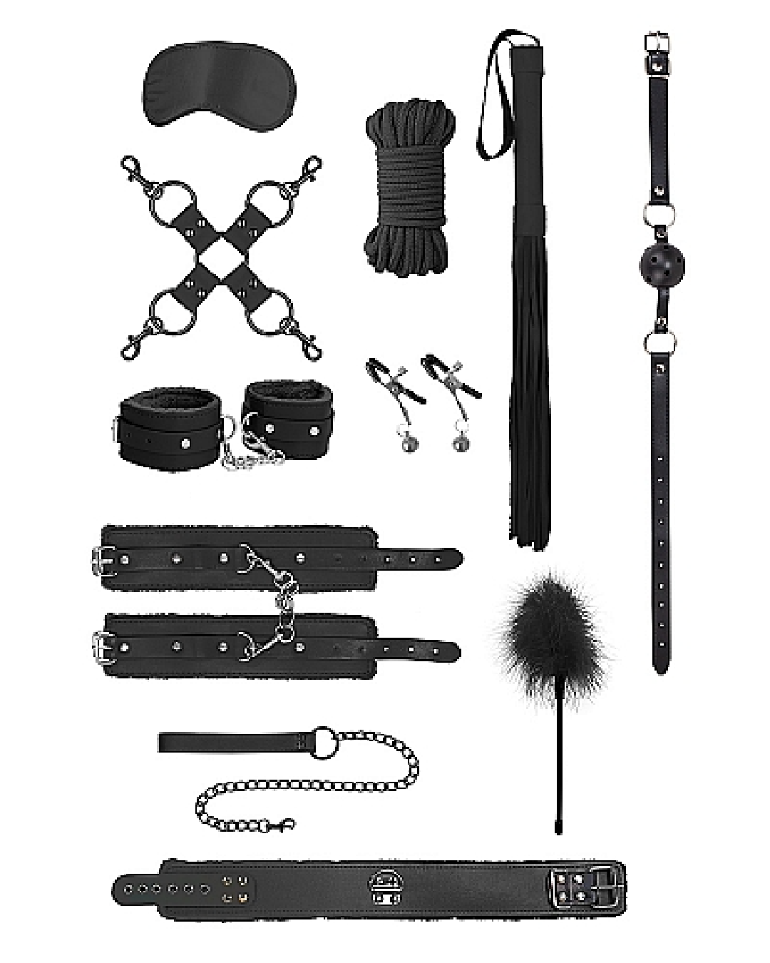 Ouch! Intermediate Bondage Kit - Black