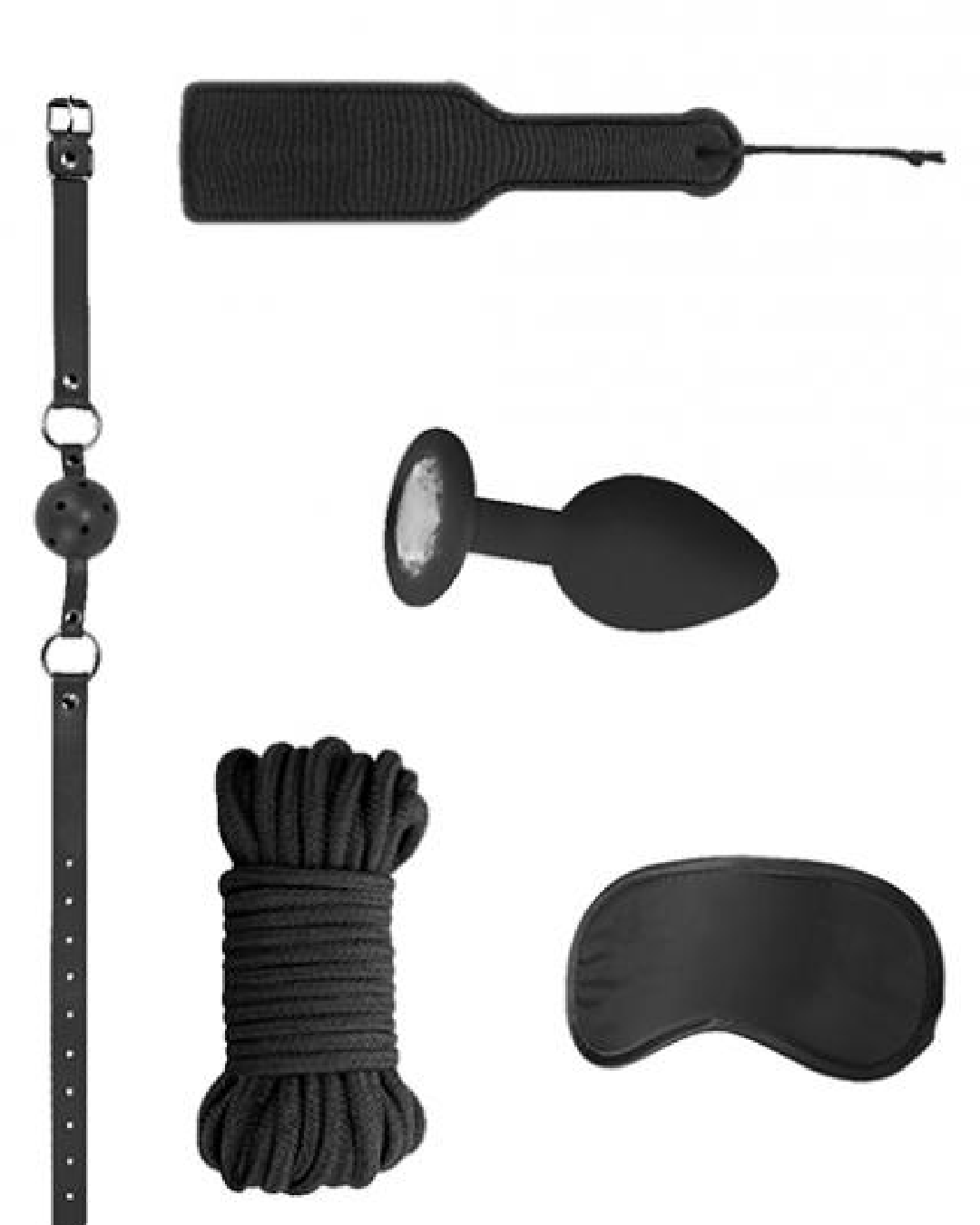 Ouch! Introductory Bondage Kit #5 - Black