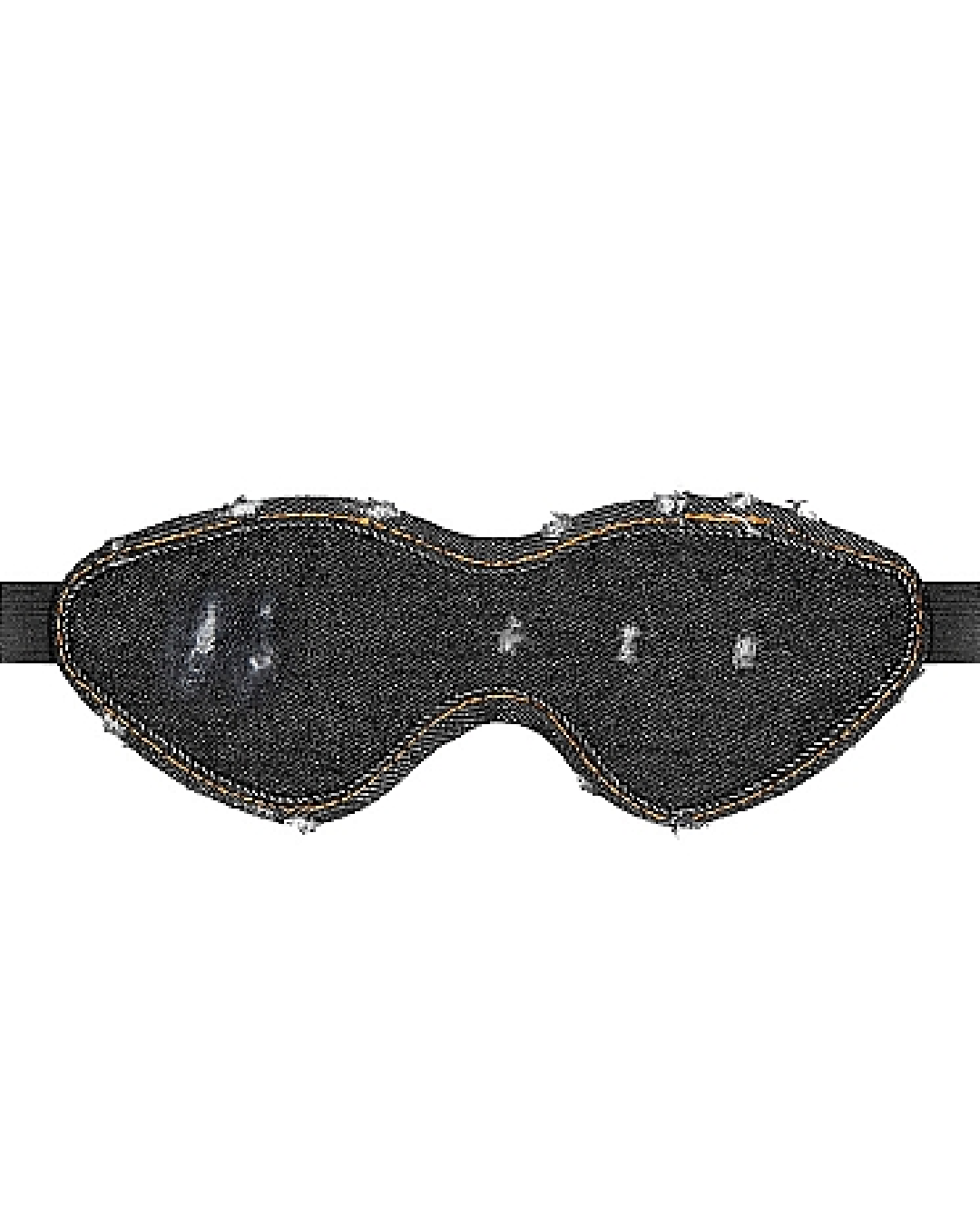 Ouch!  Denim Eye Mask - Black