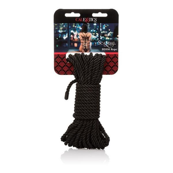 Scandal BDSM Rope Black by CalExotics package