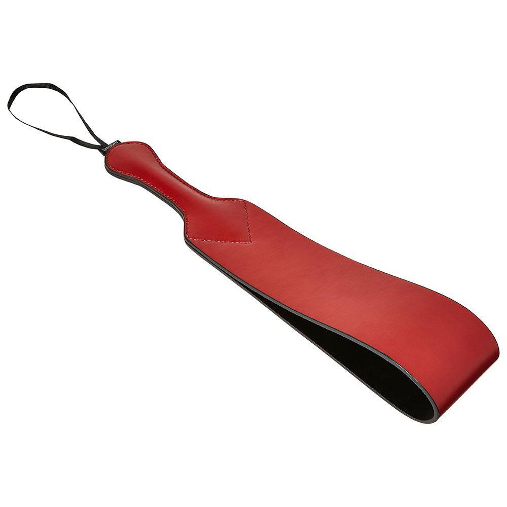 Saffron Vegan Leather Loop Paddle by Sportsheets side view