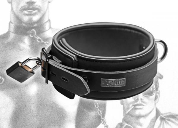 Tom of Finland Neoprene Collar with Lock 2