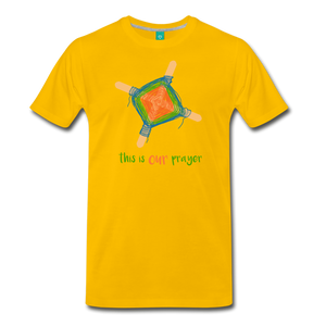 Men's Premium T-Shirt - This Is Our Prayer - sun yellow