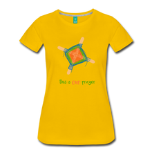 Load image into Gallery viewer, Women's Premium T-Shirt - This Is Our Prayer - sun yellow