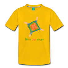 Load image into Gallery viewer, Kids' Premium T-Shirt - This Is Our Prayer - sun yellow