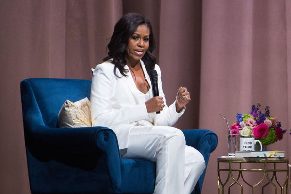 Michelle Obama shows how a pantsuit becomes a fashion statement