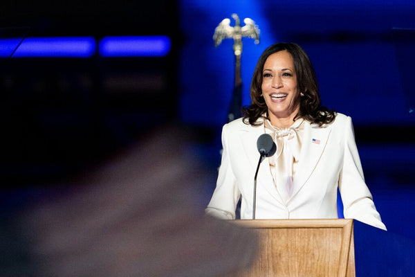 Kamala Harris in a White Suit, Dressing for History