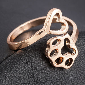 Heart and Paw Ring