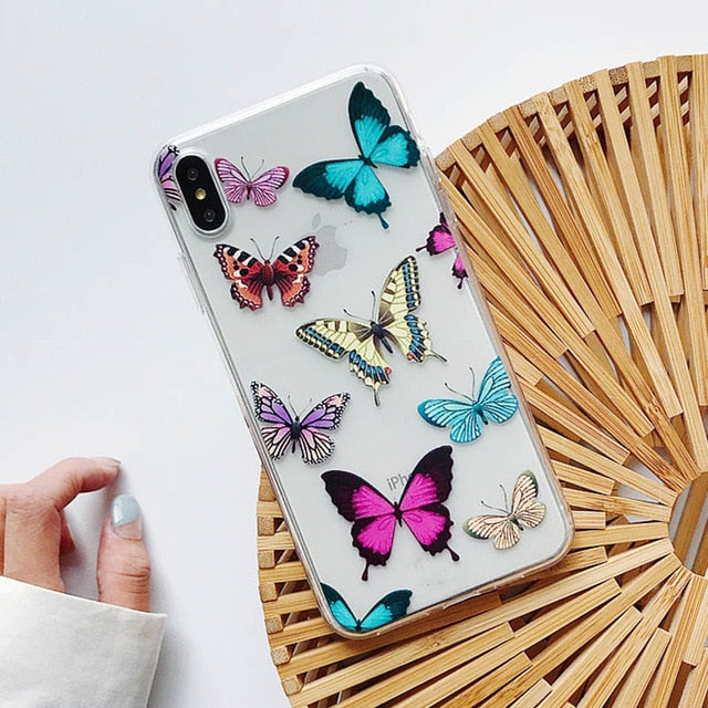 Vintage Butterfly iPhone Clear Case