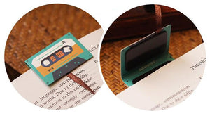 3Pcs Cassette Bookmark
