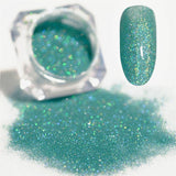 Rainbow Holographic Nail Glitter Powder