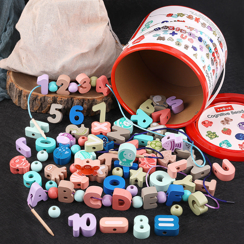 80pcs Beauty Colorful Alphabet Animals Kids Toddlers Snap Pop Arty Beads