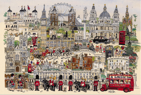 Tourist Scenic Spots London City 1000 Pieces Jigsaw Puzzles