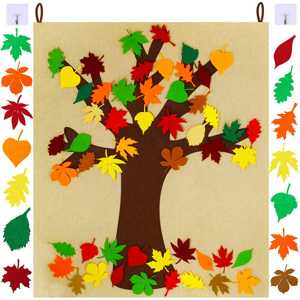 Thanks Craft Kit Felt Fall Tree Board for Kids Classroom Craft Thanksgiving Activity