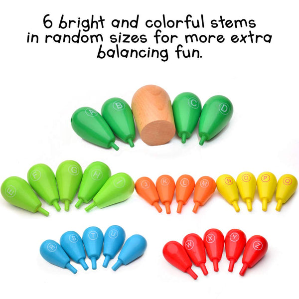 Colorful Wooden Plan Balancing Cactus Toys for Kids and Toddlers