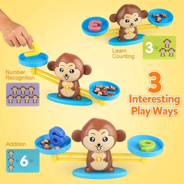 Newest Math Counting Game Toys Balance Monkey Education Kids Math Learning Toys