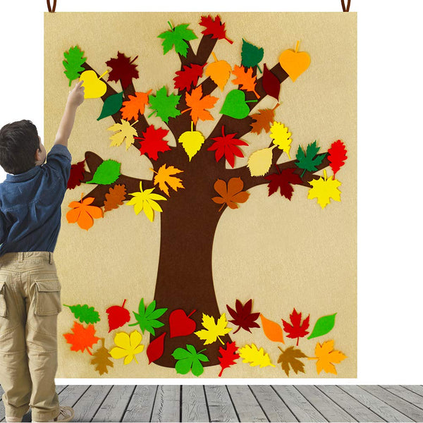 Colorful Maple Leaves Fall Tree Bulletin Board Magnetic Thanksgiving Cork Board