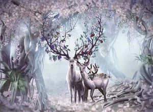 Magical Fairy Wood Deer Family Art 1000 Pieces Jigsaw Puzzles