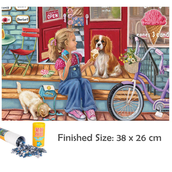Mini Jigsaw Puzzles with Mat Roll Up 1000 Pieces for Adults Children's Kids Puzzle Toy Game DIY Collectibles Modern Home Decoration-38 x 26cm
