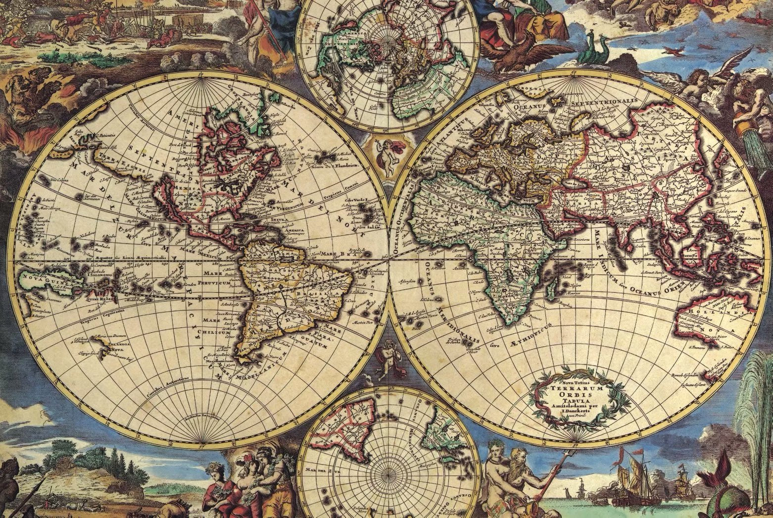 Vintage Medieval Portolan Charts World Map 1000 Pieces Jigsaw Puzzles