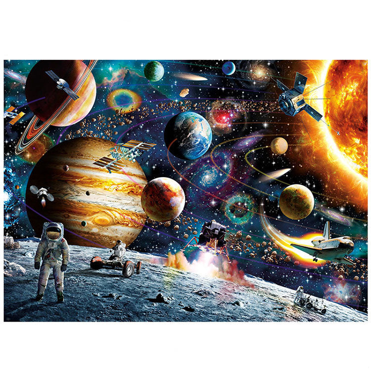 Astronaut on Galaxy Planet Solar System 1000 Pieces Jigsaw Puzzles