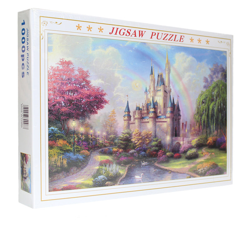 Cartoon Rainbow Fantasy Disney Castle 1000 Pieces Jigsaw Puzzles