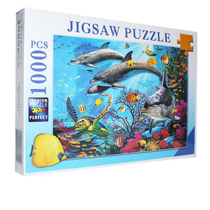 Colorful Dolphin Sea Turtle Under the Sea 1000 Pieces Jigsaw Puzzles