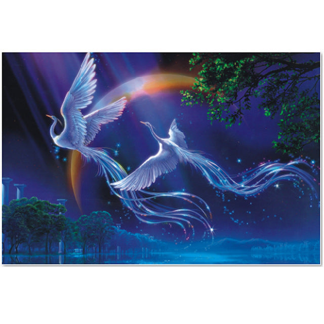 Couple of Phoenix Bird Fantasy 1000 Pieces Jigsaw Puzzles